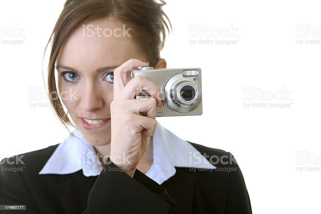 Business woman taking a photo royalty-free stock photo