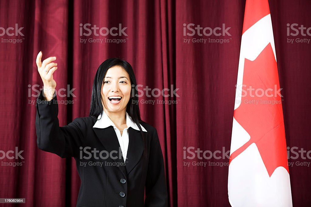 Business Woman Talking royalty-free stock photo
