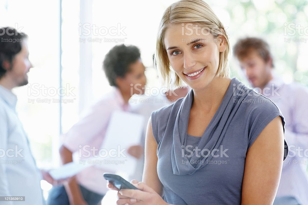 Business woman texting royalty-free stock photo