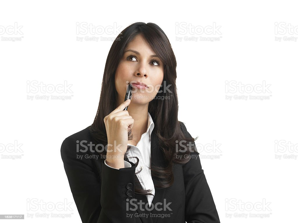 Business woman thinking royalty-free stock photo