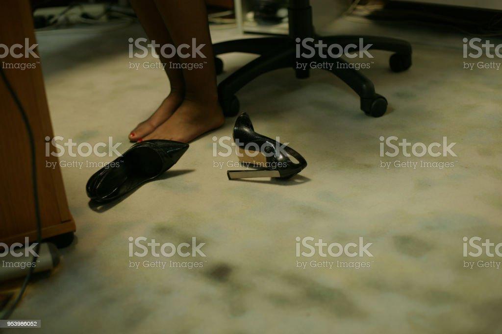 Business-Frau müde Füße – Foto