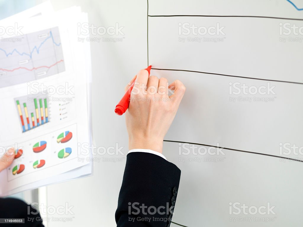 Business woman to create a chart. royalty-free stock photo