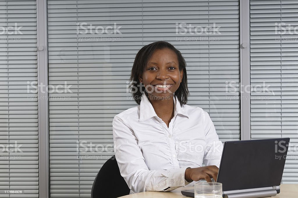 Business Woman Typing royalty-free stock photo
