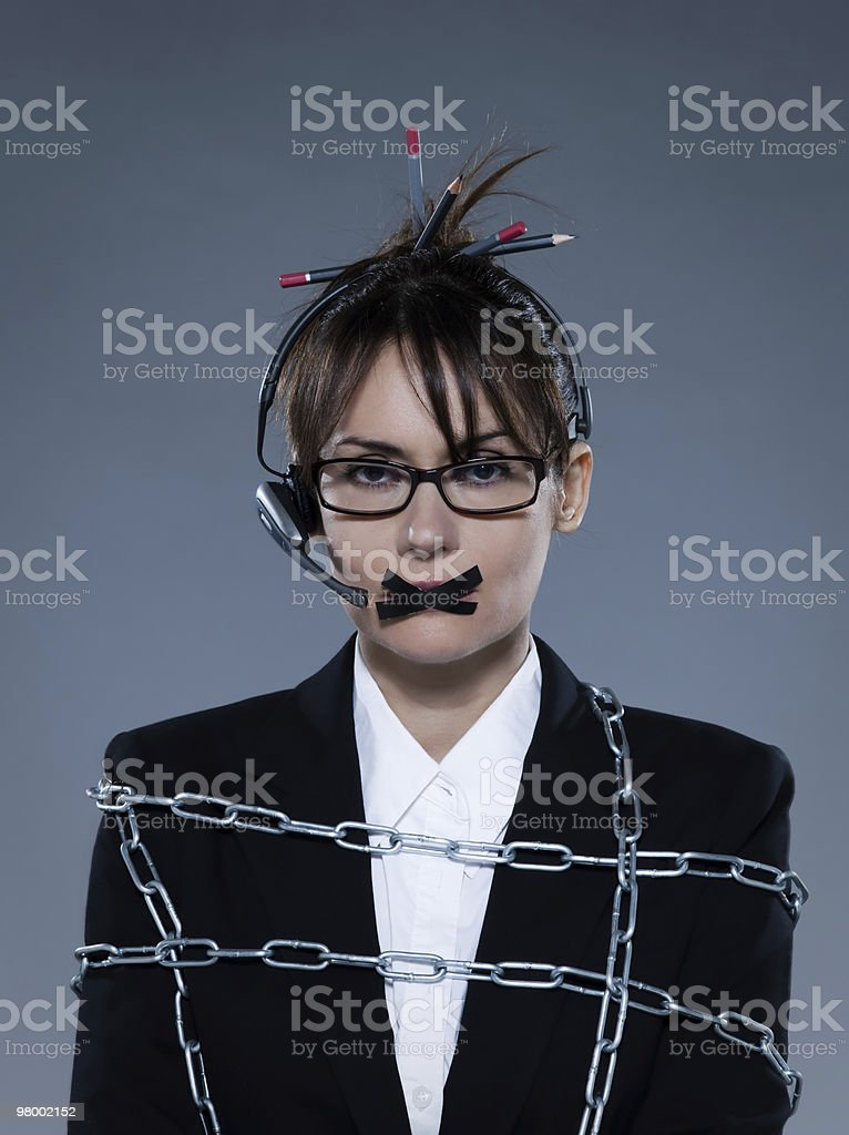 business woman unefficient call center royalty-free stock photo