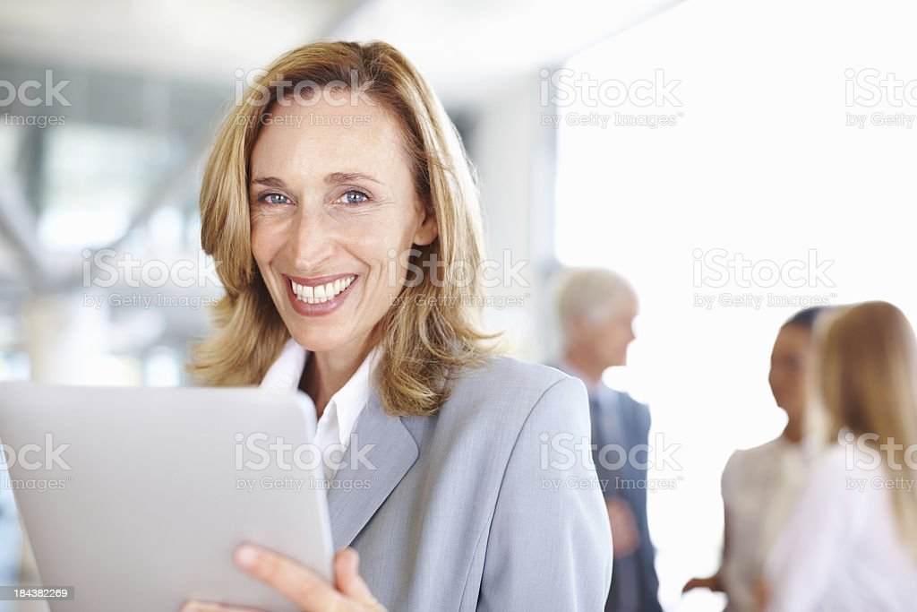 Business woman using a digital tablet royalty-free stock photo