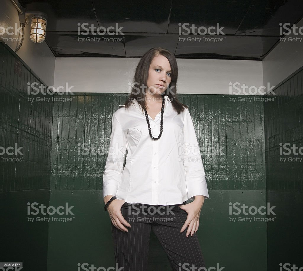 Business Woman: Very Serious royalty-free stock photo
