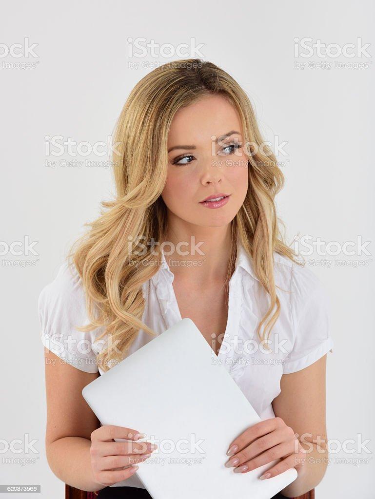 Kobieta biznesu czeka na swoją kolej zbiór zdjęć royalty-free