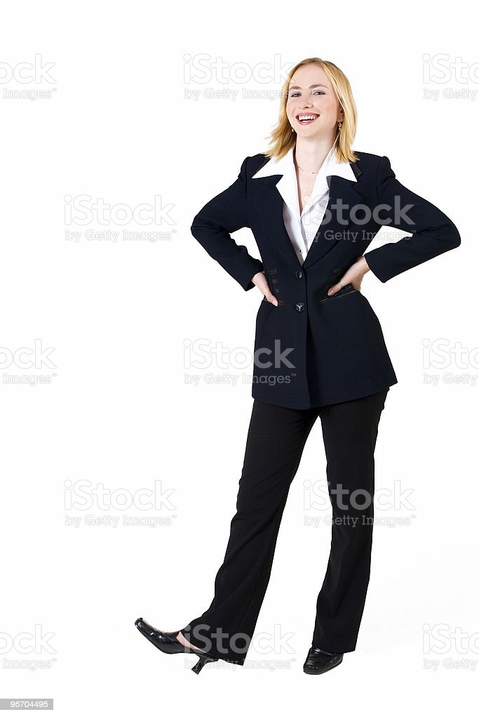 Business Woman wearing a black suit royalty-free stock photo