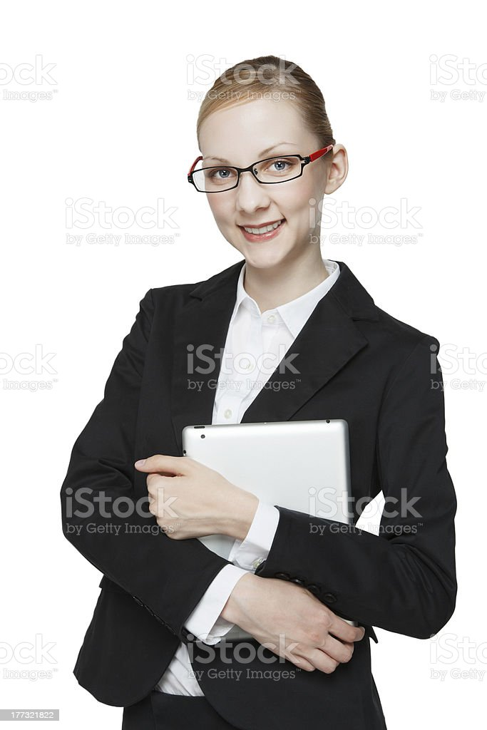 Business woman wearing glasses royalty-free stock photo