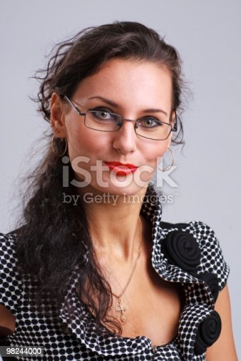 Business Woman Wearing Glasses Stock Photo & More Pictures of Adult