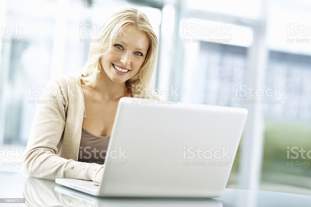 Business woman with a perfect smile royalty-free stock photo