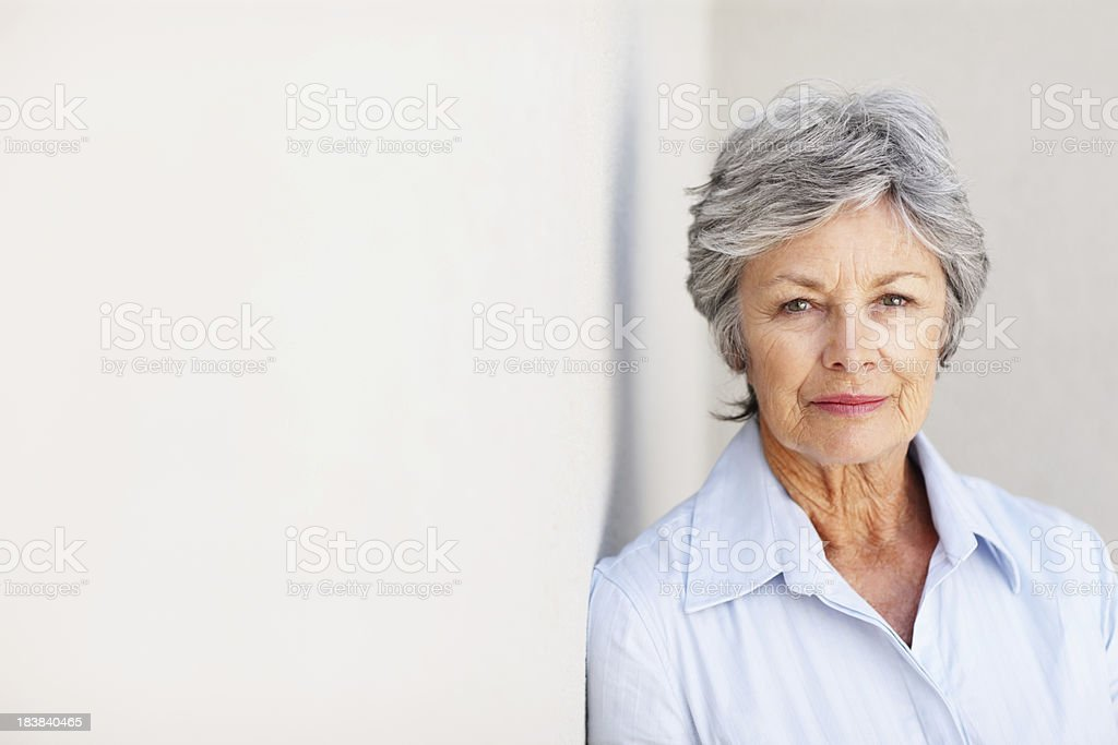 Business woman with a serious look stock photo