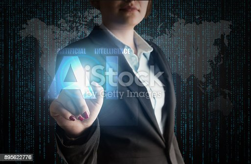 istock Business Woman with Artificial intelligence, AI Concept 895622776