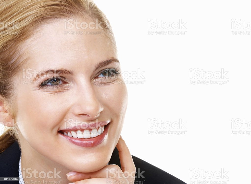 Business woman with beautiful smile royalty-free stock photo