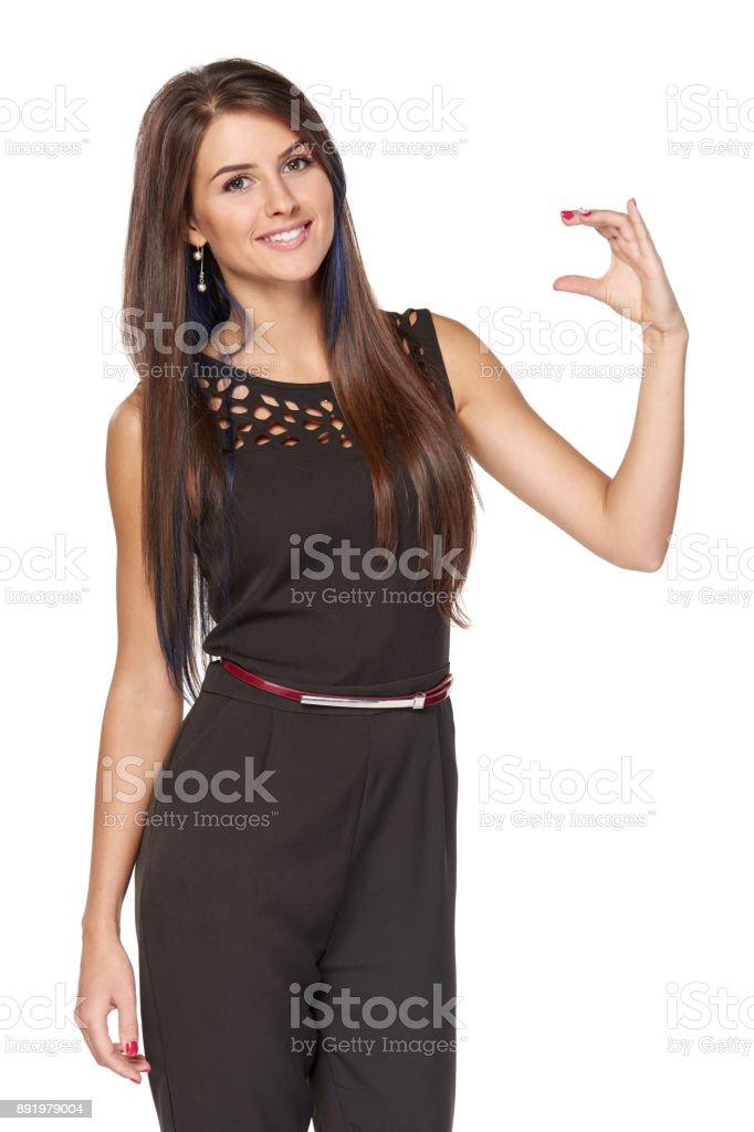 Business-Frau mit leeren Textfreiraum – Foto