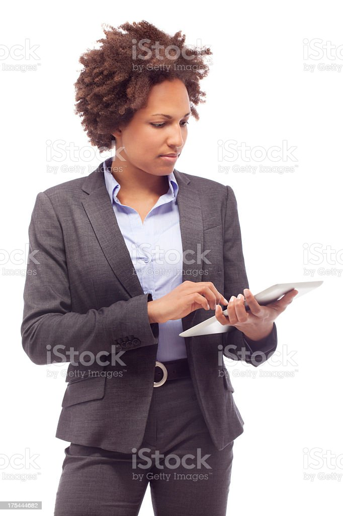 Business Woman with digital tablet royalty-free stock photo
