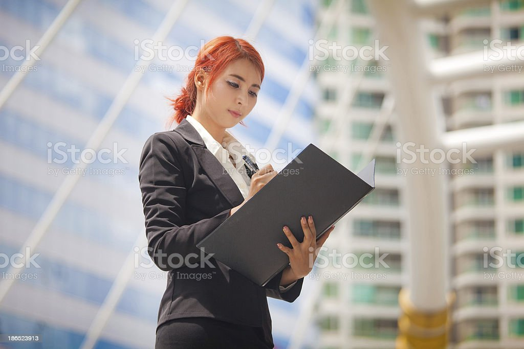 business woman with document royalty-free stock photo