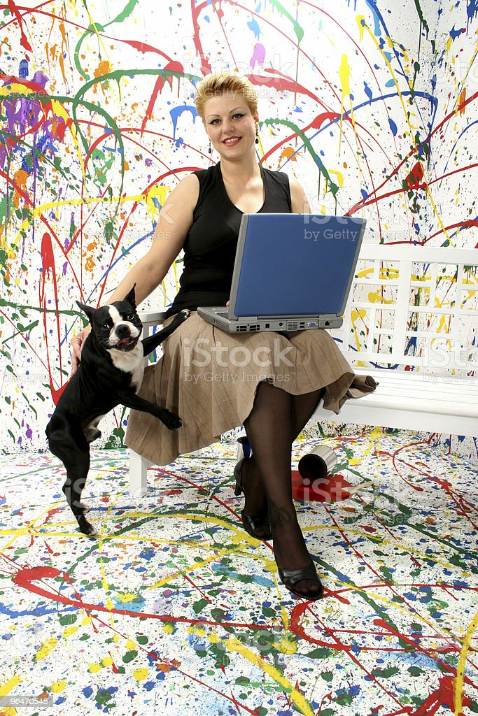 Business Woman with Dog royalty-free stock photo
