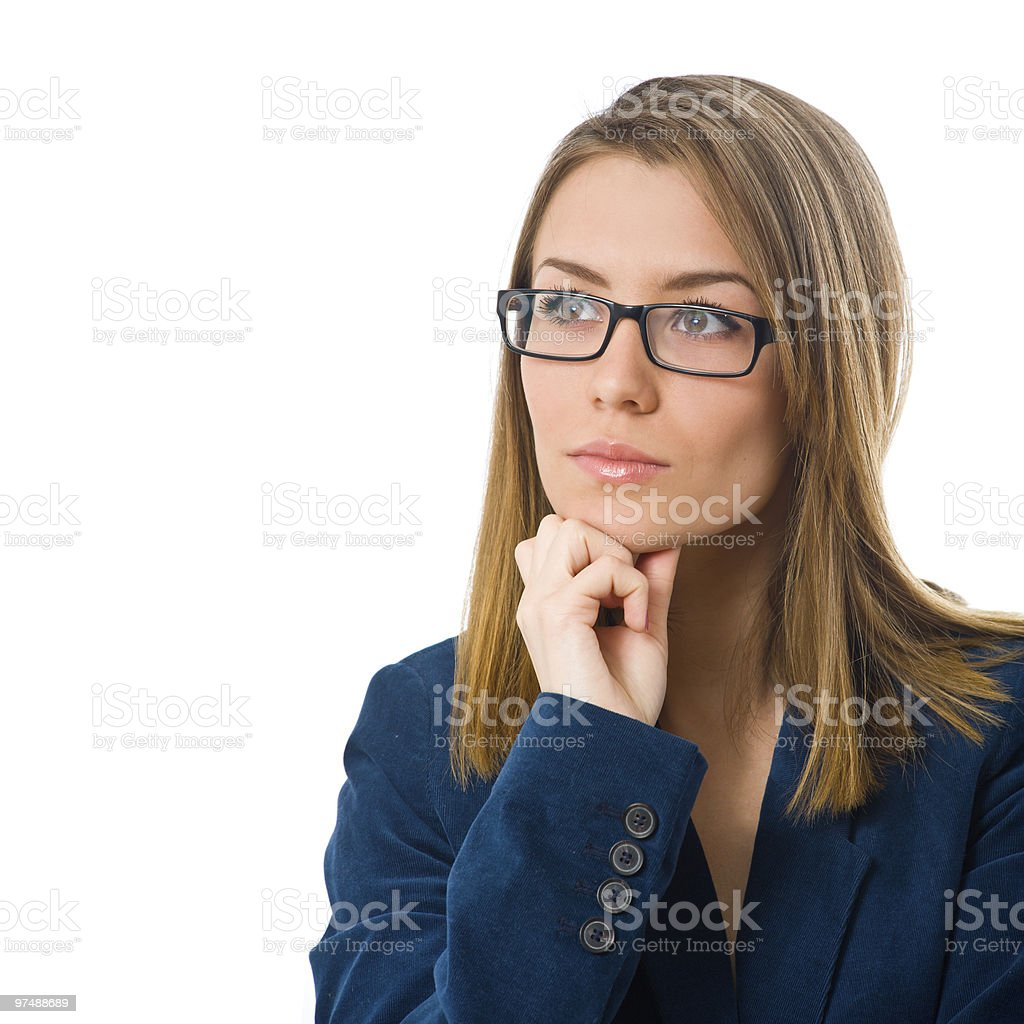 Business woman with glasses royalty-free stock photo