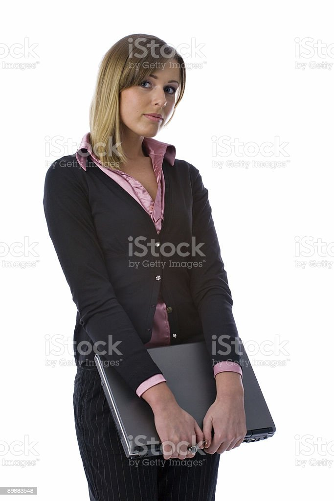 business woman with notebook royalty-free stock photo