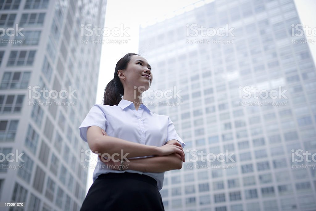 Business Woman with Office Building Backgrounds - XXXXXLarge stock photo