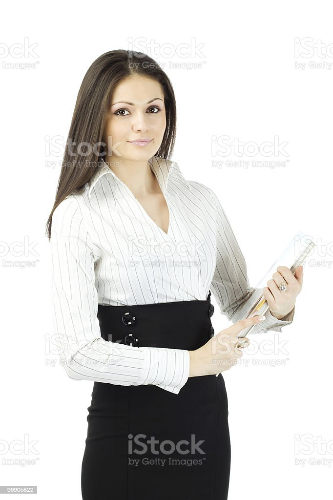 Business woman with planner royalty-free stock photo