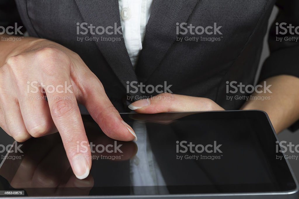 Business woman with tablet royalty-free stock photo