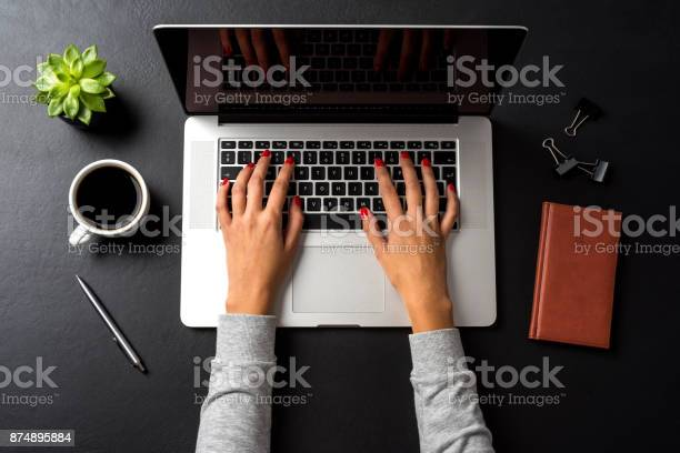 Business Woman Working In Office Stock Photo - Download Image Now