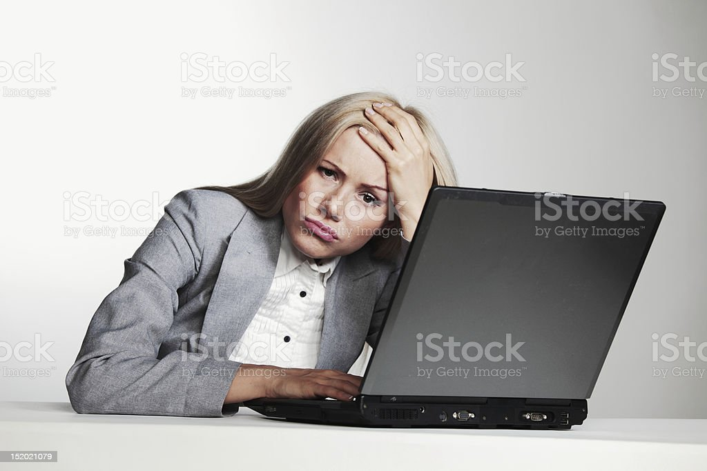 business woman working on laptop royalty-free stock photo