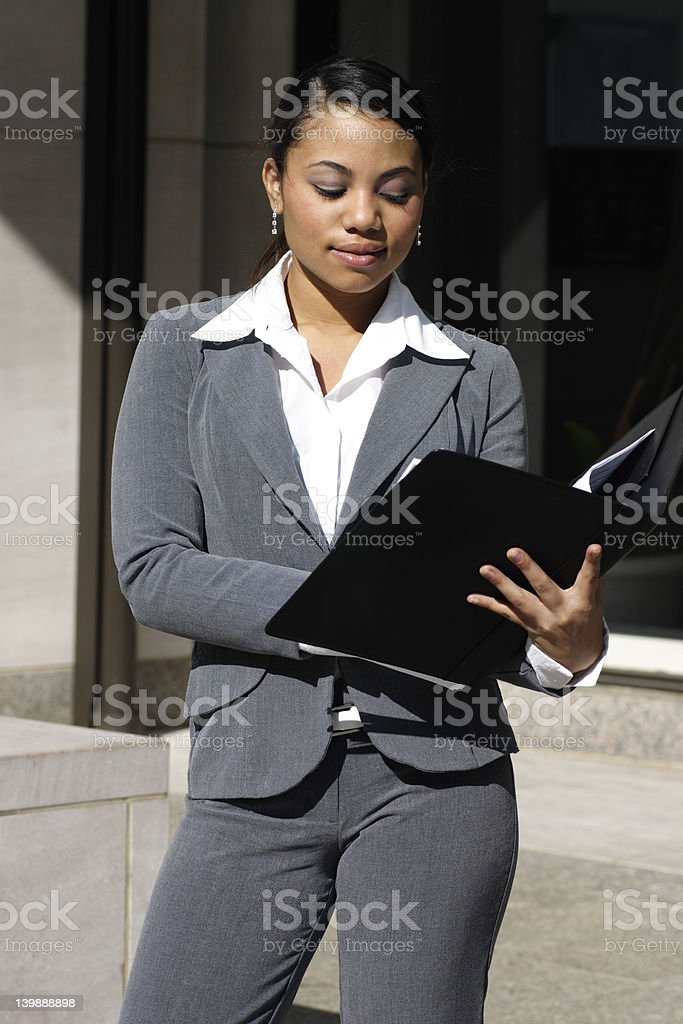 Business Woman Writing royalty-free stock photo
