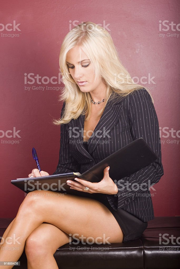 Business Woman Writing stock photo
