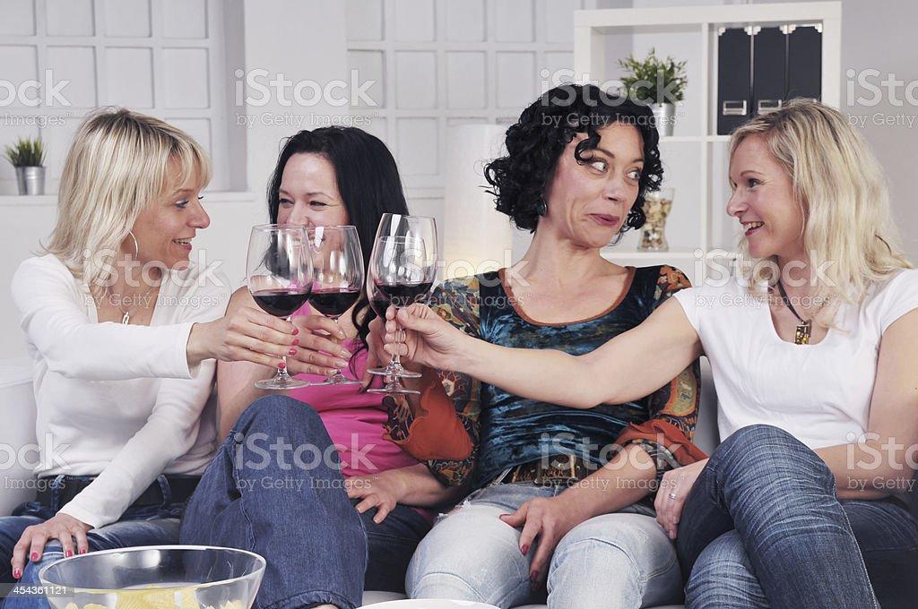 Business women celebrating royalty-free stock photo