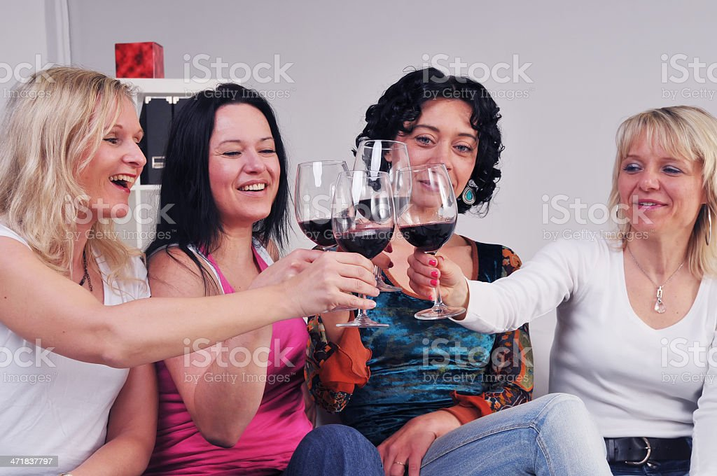Business women celebrating royalty-free stock photo