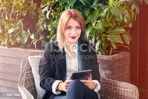 872707982istockphoto Business Women, Face Recognition, Security Face Scan. 1139621855