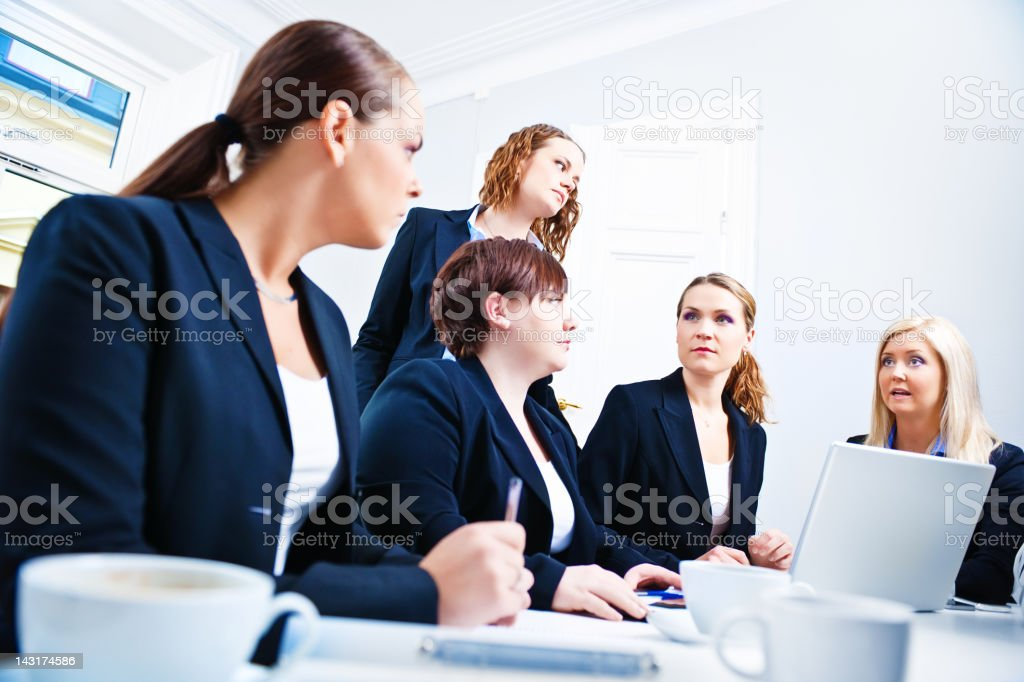 Business women in a meeting royalty-free stock photo
