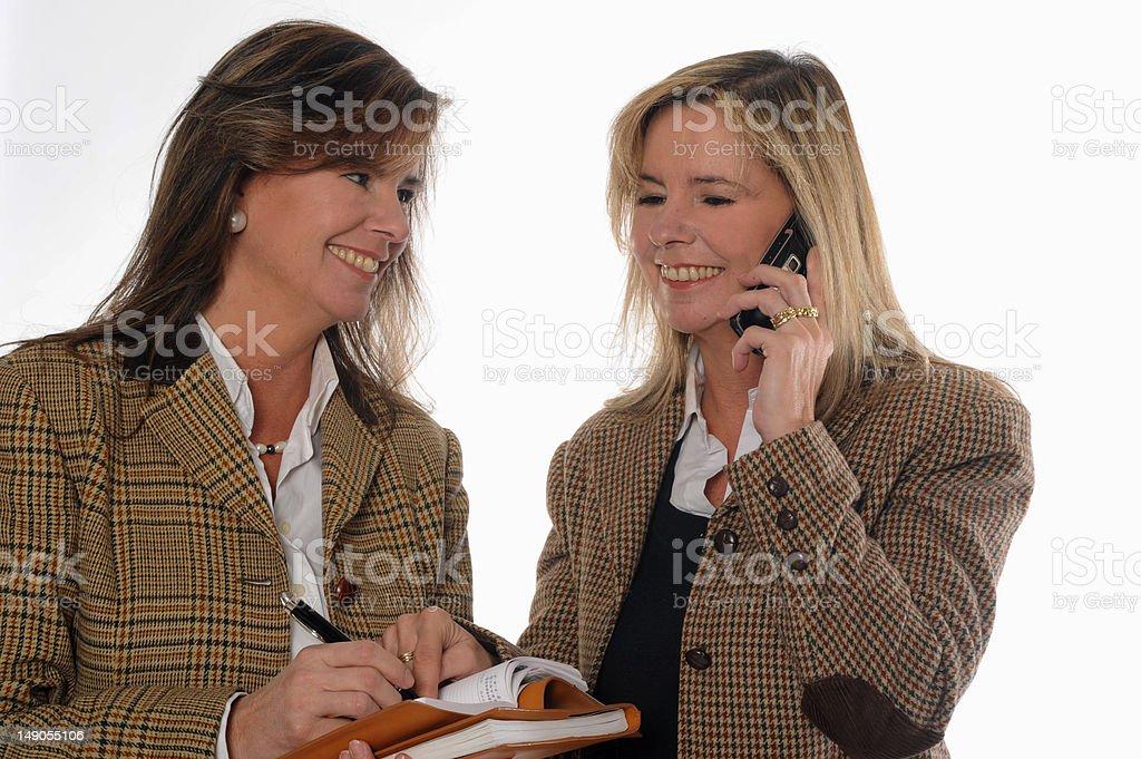 business women speaking royalty-free stock photo