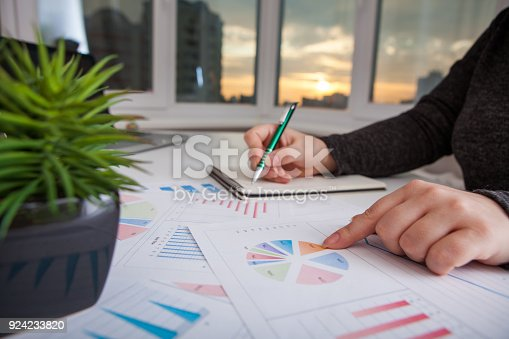 istock Business women work process.Marketing strategy brainstorming. 924233820