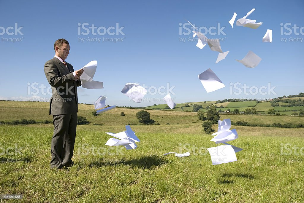 Business Work Overload royalty-free stock photo