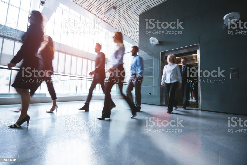 Business world is always moving stock photo