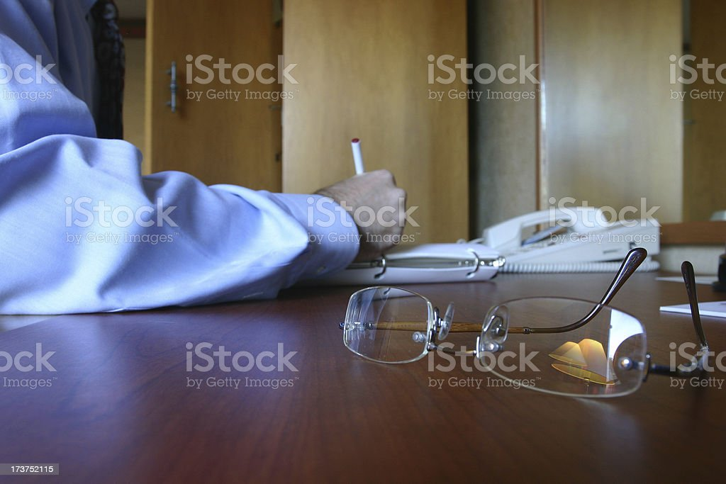 Business writing royalty-free stock photo