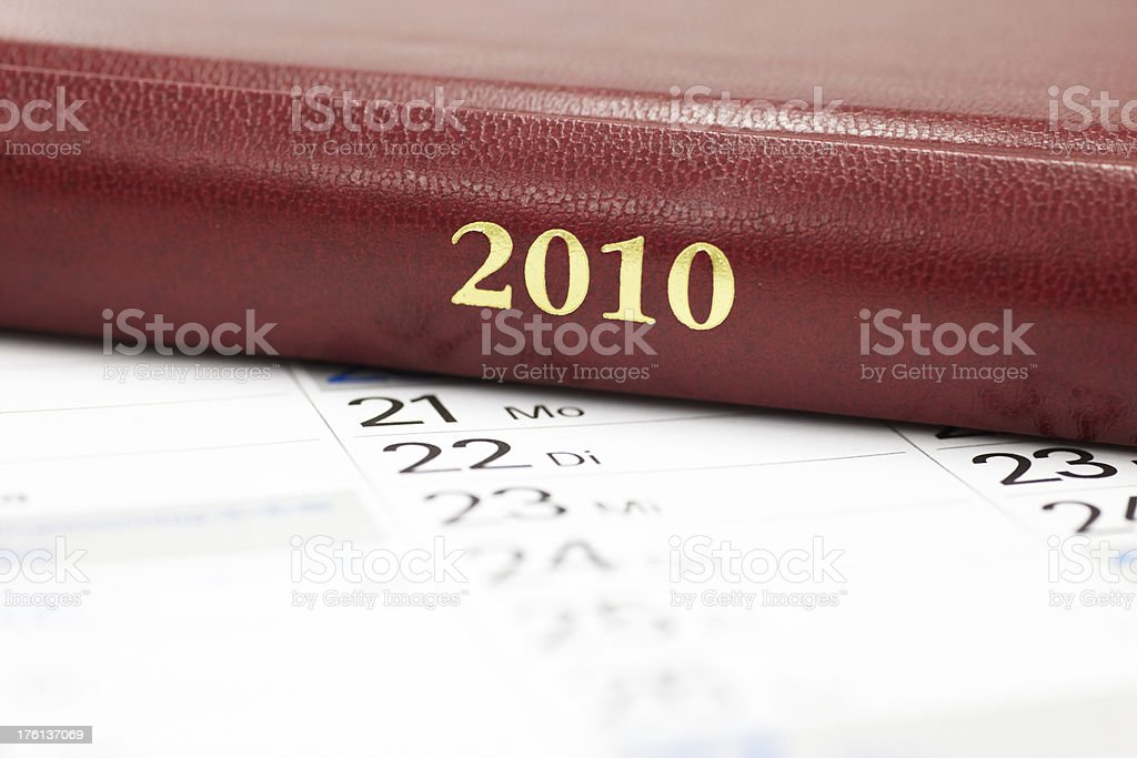 Business year 2010 royalty-free stock photo
