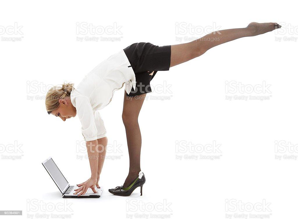 business yoga #3 royalty-free stock photo