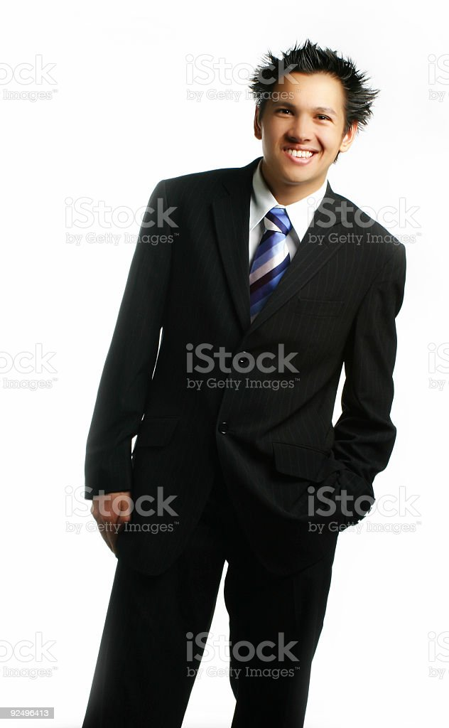 Business - Young Male With Smile royalty-free stock photo