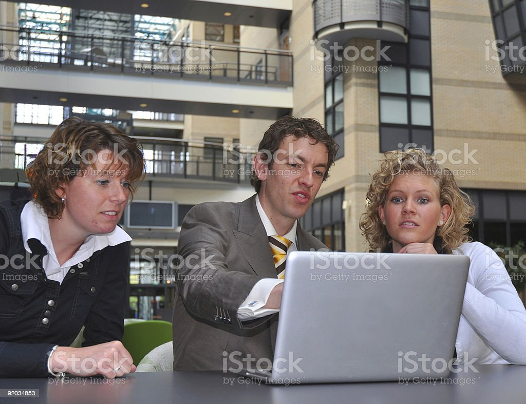 Business youngsters disagree royalty-free stock photo
