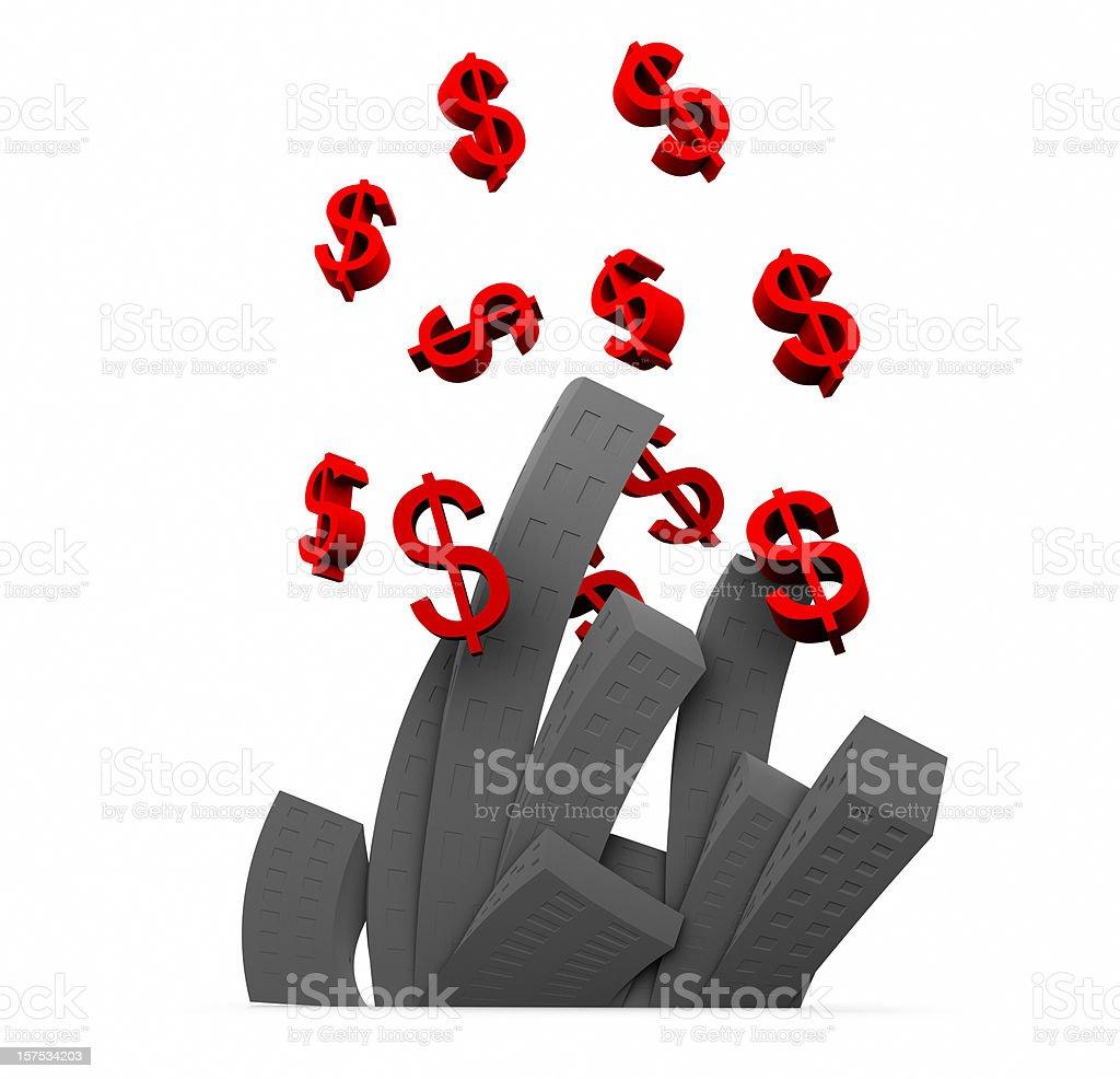 Businesses in Debt, Corporate Spending Concept stock photo