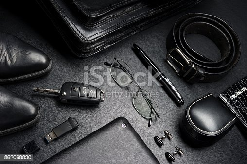625840656 istock photo Businessman accessories in classical style 862068830