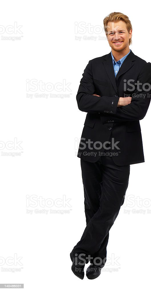 Businessman against a white background royalty-free stock photo