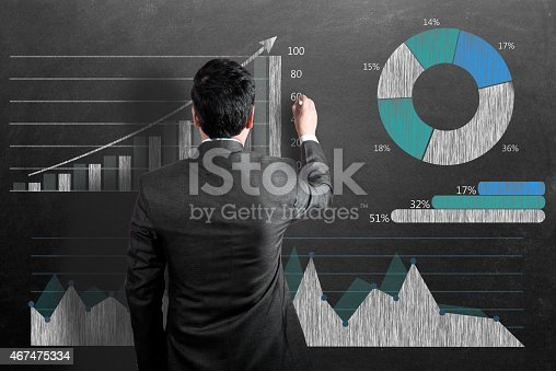 istock Businessman analyzing business graph 467475334