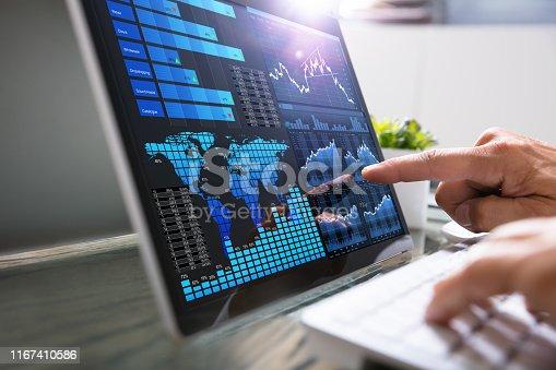 1044507110istockphoto Businessman Analyzing Graph On Laptop 1167410586
