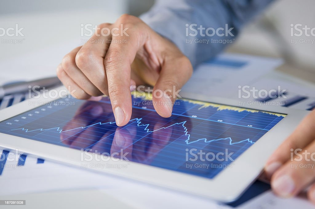 Businessman Analyzing Graph stock photo